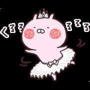 Usakochan Keeps Movin' Sticker for LINE & WhatsApp   ZIP: GIF & PNG